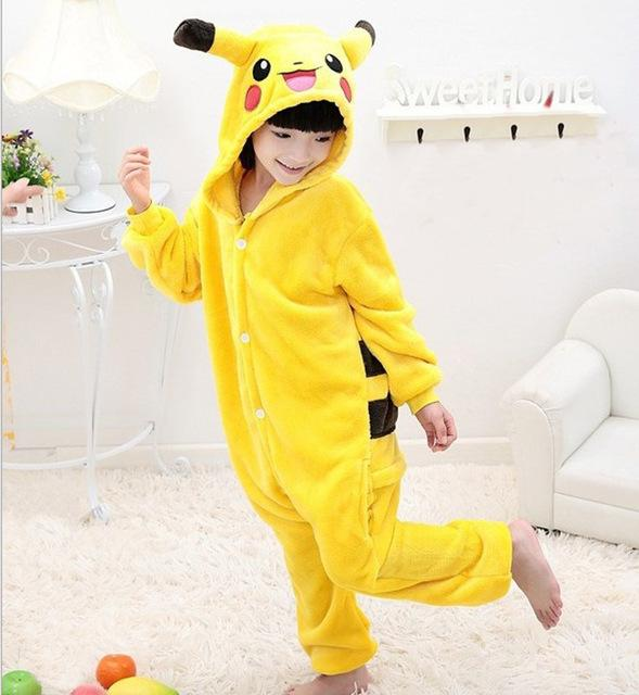 Kids Unisex Children Pajamas Anime Cosplay Costume Halloween Unicorn Pajamas Winter infantil Onesie ropa de bebe pijama menino