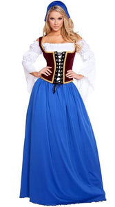 MOONIGHT Oktoberfest Costume Women Bavarian Beer Costume Halloween Carnival Party Cosplay Fancy Long Dress