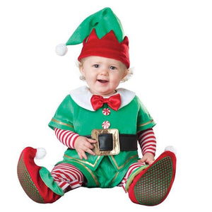 Children Christmas Cosplay Costume Suit Rompers Set Santa Claus Elk Elf Jumpsuit Outfit Kid Boy Girl Performance Clothes FS99