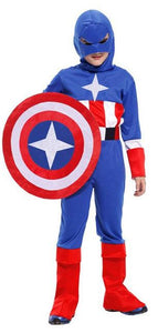 Superhero The Avengers Captain America Muscle Costume High Quality Halloween Kid Chidlren Costume Cosplay Party Clothing