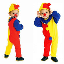 Children Kids Baby Jumpsuits & Rompers+Hat+Nose Halloween Carnival Clown Circus Cosplay Costumes Performance Clothing Party