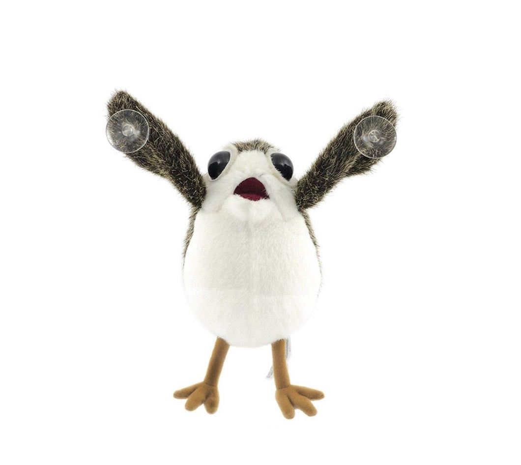 Xcoser Star Wars LAST JEDI - PORG on BOARD Plush Suction Cup Window Cling w/ STICKER