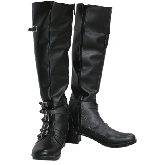 The Movie Captain America 3 Scarlet Witch Boots Black PU Knee-high Boots for Cosplay Halloween Party