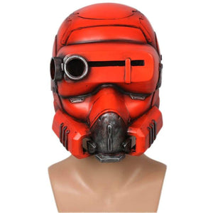 The Game Destiny Hunter Mask Orange Soft Resin Cosplay Props With Xcoser Logo - 1