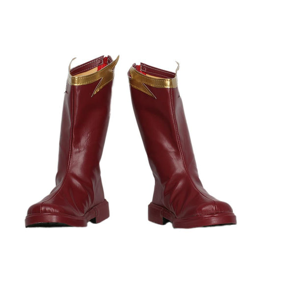 Xcoser The Flash season 4 The Superhero The Flash Cosplay PU Leather Boots
