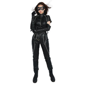 Xcoser Arrow Season 6 TV Cosplay Black Canary Cool Full Set Black PU Leather Costume