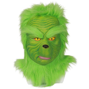 Xcoser Cosplay The Grinch How The Stole Christmas Movie Full Head Green Mask - 1