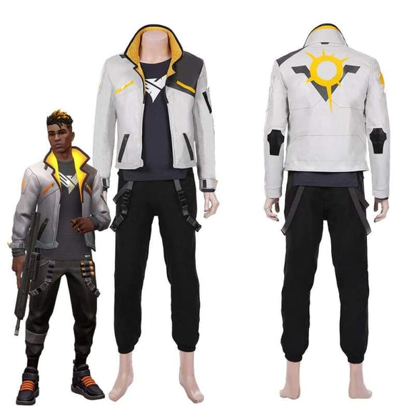 Xcoser Game Valorant-phoenix Men Jacket Pants Suit Halloween Carnival Outfit Cosplay Costume - Female / Xs - Costumes 1