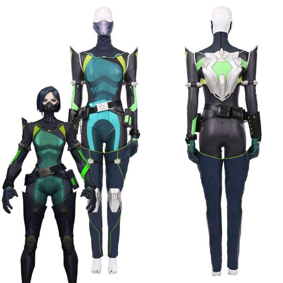 Xcoser Game Valorant Viper Women Jumpsuit Suit Halloween Carnival Outfit Cosplay Costume - Female / Xs - Costumes 1