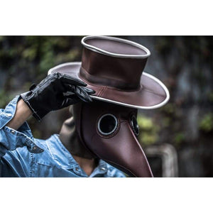 Xcoser Steampunk Plague Doctor Mask And Hat Pu Cosplay Accessory - 3