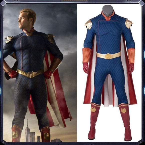 Xcoser The Boys Season 1 Homelander Cosplay Costume 2019 - Costumes