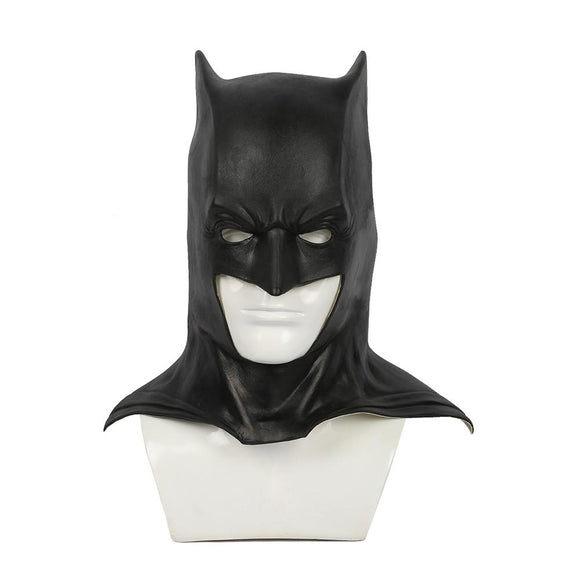 Xcoser Batman Black Latex Fullhead Helmet Movie Cosplay Mask