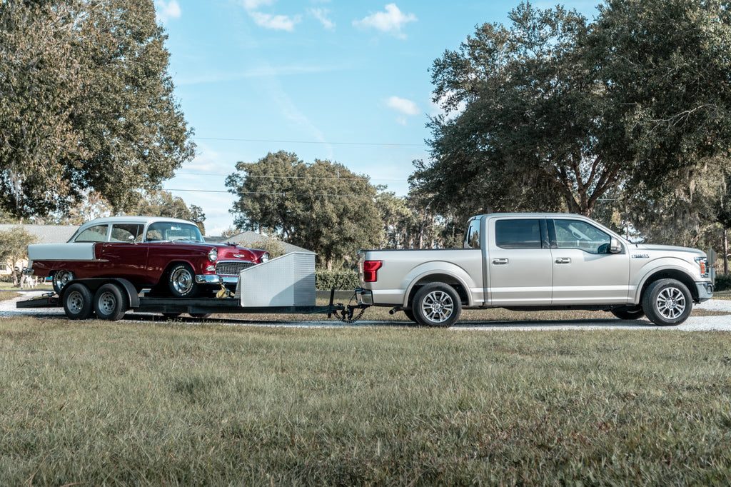 F150 Towing with An Adjustable BulletProof Drop Trailer Hitch (Class 4)