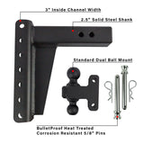 "2.5"" Heavy Duty 8"" Drop/Rise Hitch"
