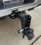 "BulletProof 2.5"" Heavy Duty 8"" Drop/Rise Hitch with Dual Ball and Corrosion Resistant Pins (1955367747653)"