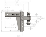 "2.5"" Medium Duty 6"" Drop/Rise Hitch"