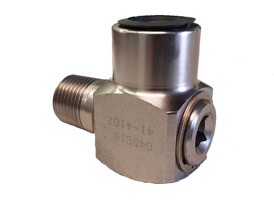 "1/2"" 90 Degree Swivel (BP 90 MxF STEEL 3000 PSI SUPER SWIVEL JT) - hydrovacparts.ca"