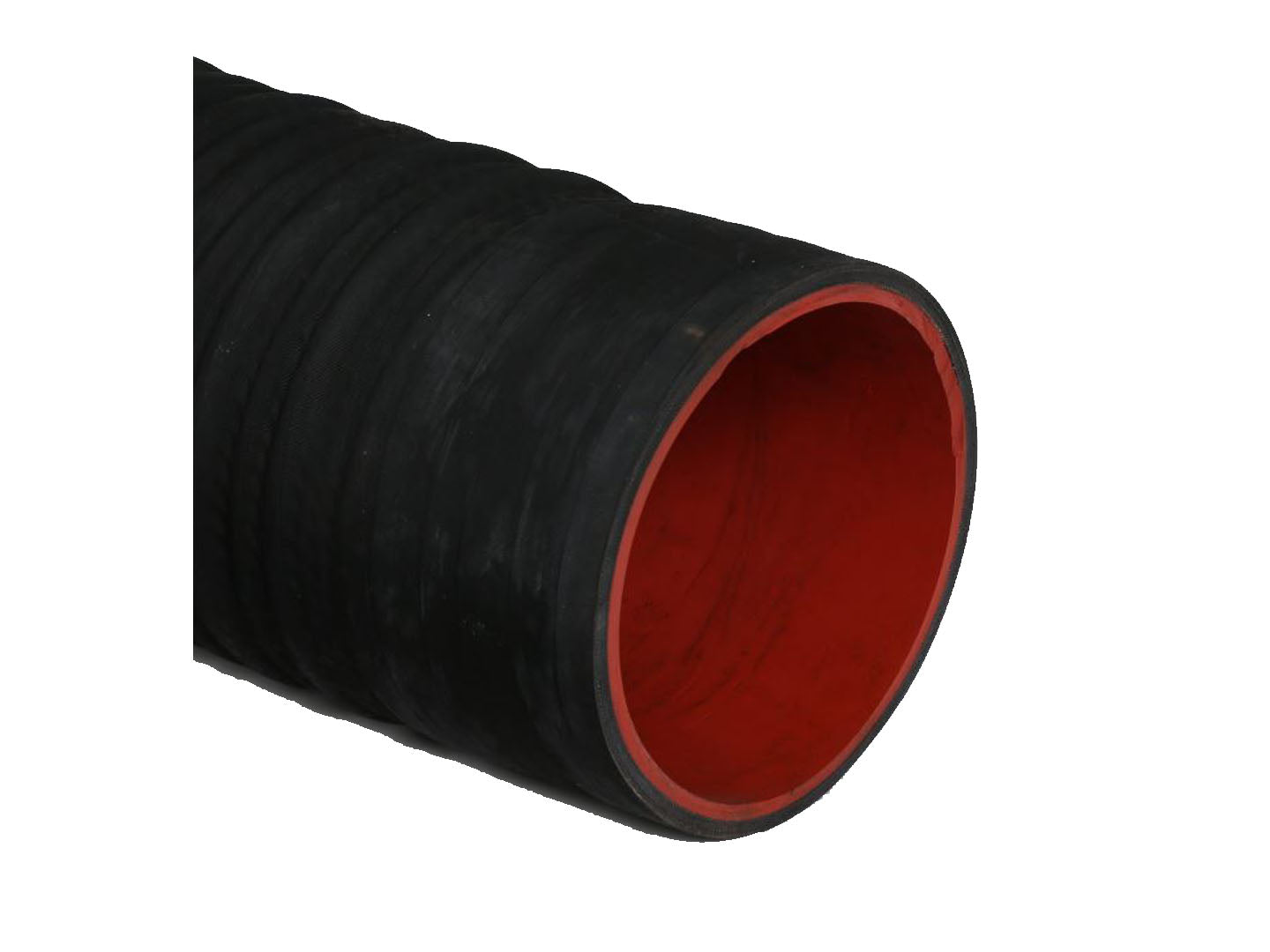 "6"" Corrugated boom hose with 1/4"" Red gum tube - hydrovacparts.ca"