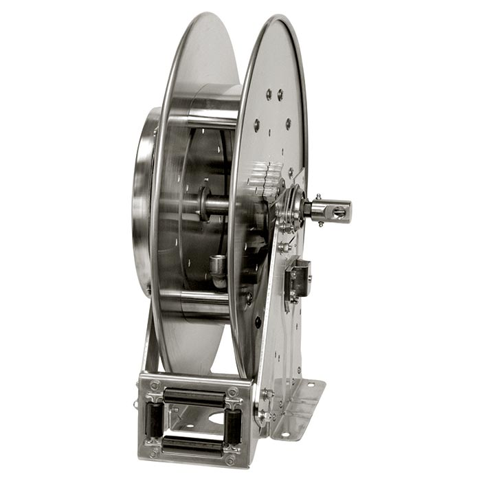 "Hannay SSN700 Series Stainless Steel Hose Reel to handle 1/4"", 3/8"", or 1/2"" I.D. Hose - hydrovacparts.ca"