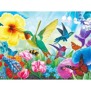 Diamond Painting Bird Flower