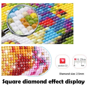 5d diamond painting squirrel flower pattern