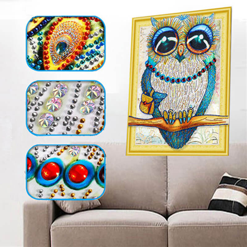 Diamond Painting Special Shape Owl