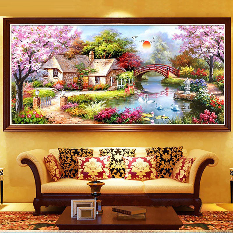Diamond Painting Landscape Garden House