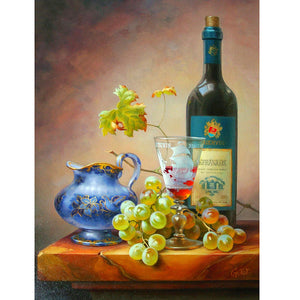 5D DIY Diamond Painting Fruit Red Wine