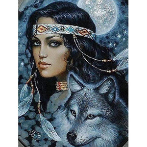 DIY Diamond Painting Wolf Beauty