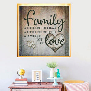 New Square/round Cross Stitch Kit 5D DIY Diamond Painting Diamond Embroidery Pattern Full Family Love Letter Mosaic Home Decor