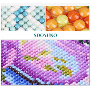Cross Stitch 5d DIY Diamond Embroidery Scenery Full Round Drill Resin Diamond Painting Needlework Rhinestone Mosaic Home Decors