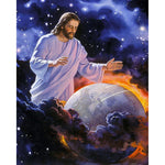 5D Diy Diamond Painting Jesus Protect Earth