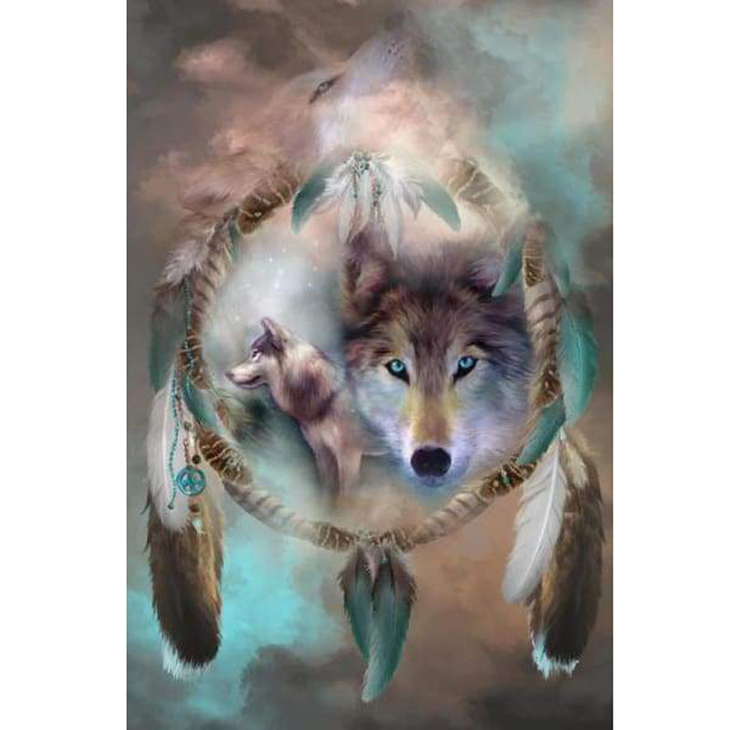 5d Diamond Painting Kits Wolf Dreams of Peace Full Drill Square