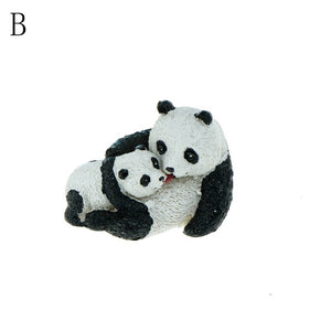 Kawaii Doll Panda Miniature fun Panda Fairy Garden Miniatures kids gift Cute Animal Miniatures For Terrariums home decor