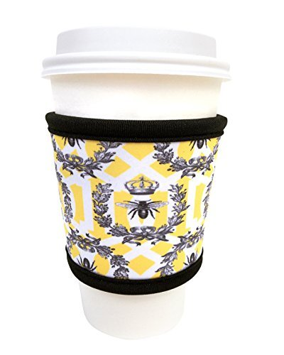 Joe Jacket Neoprene Drink Insulator, Coffee Sleeve, Cup Grip, Queen Bee (many colors avail.)