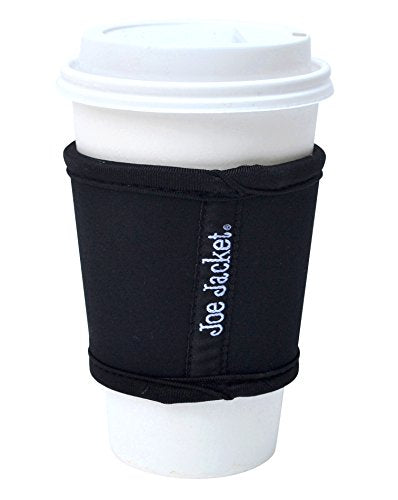 Joe Jacket Neoprene Drink Insulator, Coffee Sleeve, Cup Grip, Black (many colors avail.)