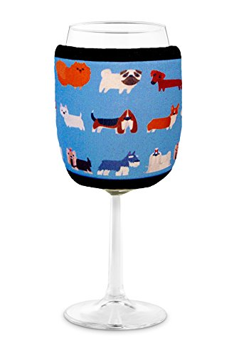 Joe Jacket Wine Glass Insulator, Neoprene Sleeve, Dog Lovers Gift - Dogs (many colors avail.)