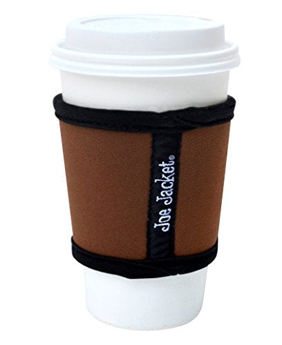 Joe Jacket Neoprene Drink Insulator, Coffee Sleeve, Cup Grip, Brown (many colors avail.)