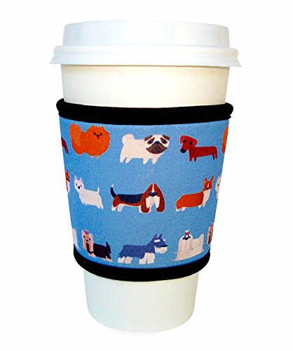 Joe Jacket Neoprene Drink Insulator, Coffee Sleeve, Cup Grip, Dogs (many colors avail.)