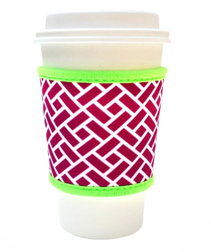 Joe Jacket Neoprene Drink Insulator Sleeve, Purple Blocks