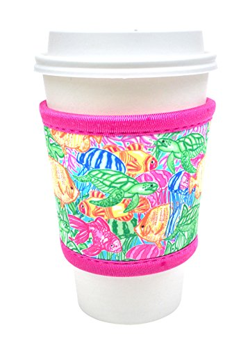 Joe Jacket Drink Insulator, Coffee Sleeve, Cup Grip, Sea Life (many colors avail.)