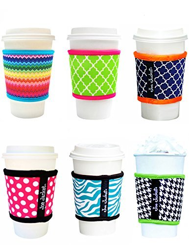 Joe Jacket Neoprene Drink Insulator Gift Pack Sleeves, 6-pack