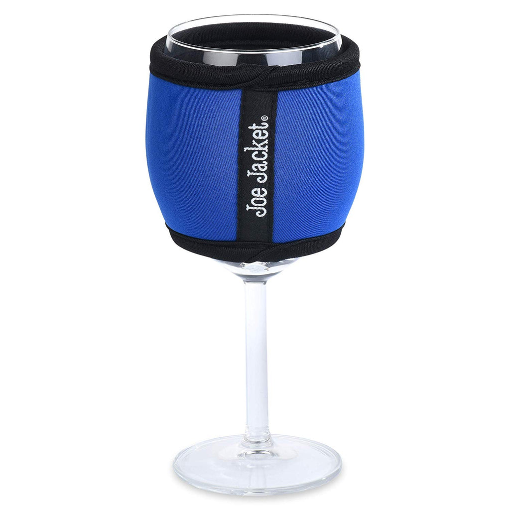 Joe Jacket - Neoprene Wine Sleeves - 6-Pack Solid Colors - Never Lose Your Wine Glass Again! Super Stylish Glass and Keeps Your Wine at the Correct Temp. Buy 6 and get 30% Off. (WineSolid6Pack)