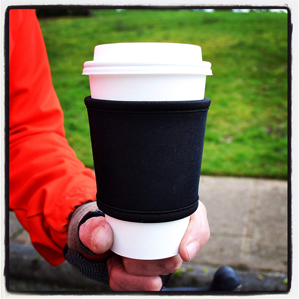 Joe Jacket - Neoprene Cup Sleeves - Black 6 Pack - Super Stylish Glass Insulator Keeps Your Beverage at the Correct Temp. Buy 6 and get 30% Off. (6PACK)