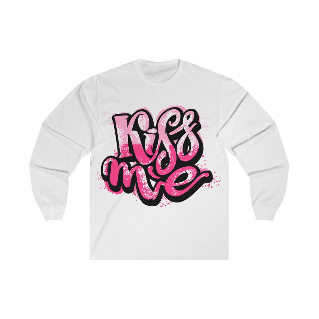 Kiss Me Long Sleeve Tee - Tshirtsbros