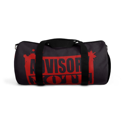 Advisory Note Duffle Bag