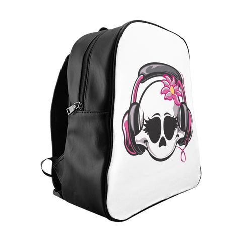 Headphone Girl School Backpack