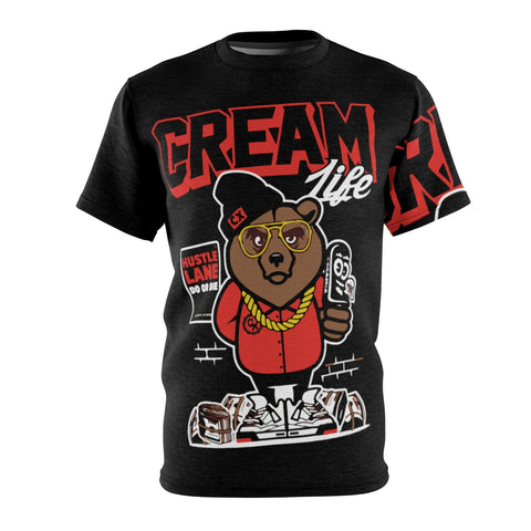 Cream Hustle Unisex AOP Cut & Sew Tee