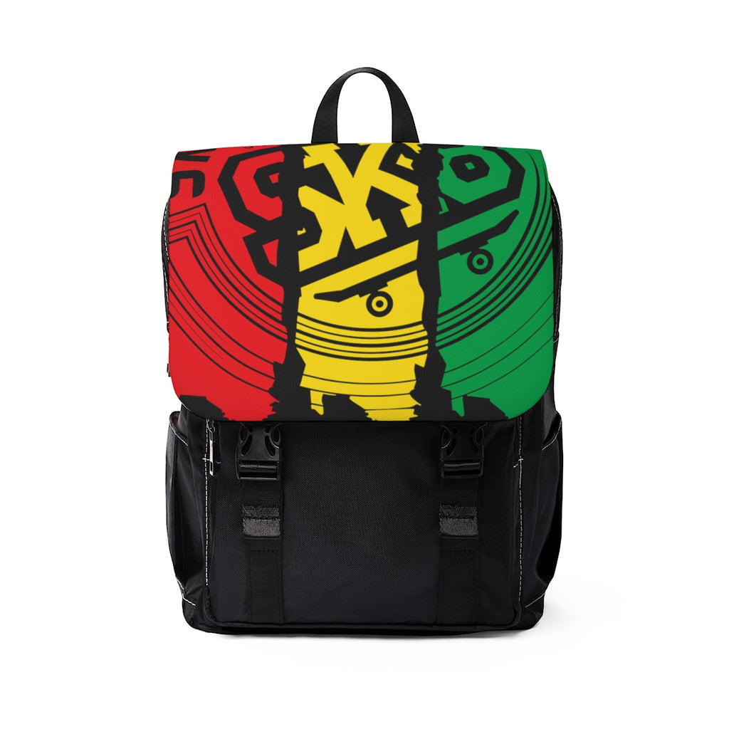 Skate Board Jamaica  Shoulder Backpack