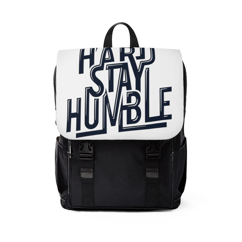 Work Hard Stay Humble  Casual Shoulder Backpack